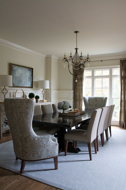 transitional dining room currey co chandelier charles stewart wing host and hostess as well. Black Bedroom Furniture Sets. Home Design Ideas