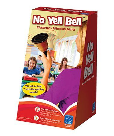 Educational Insights No Yell Electronic Bell #zulily #zulilyfinds