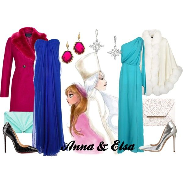 """""""Anna & Elsa"""" by amarie104 on Polyvore"""