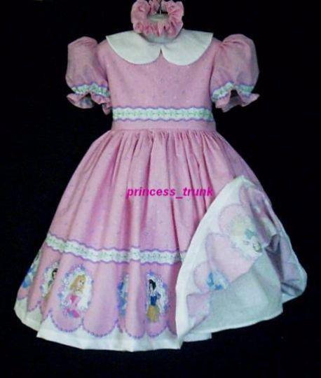 NEW Handmade VHTF Disney Princess Cute Border Deluxe Dress Set Custom via Princesstrunk