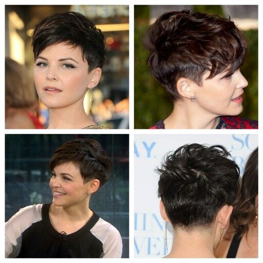 Front back side view pixie cut