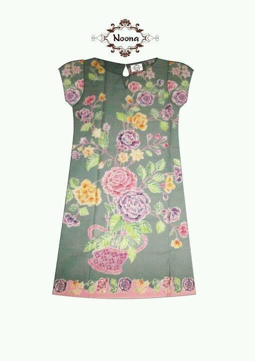 Batik dress simple