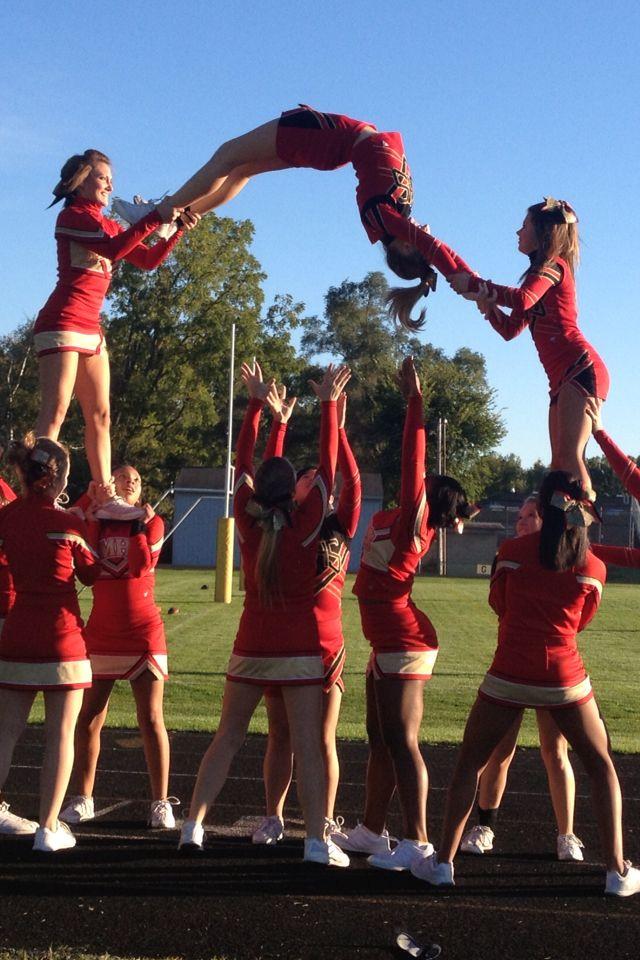 Cheer stunt, arch back