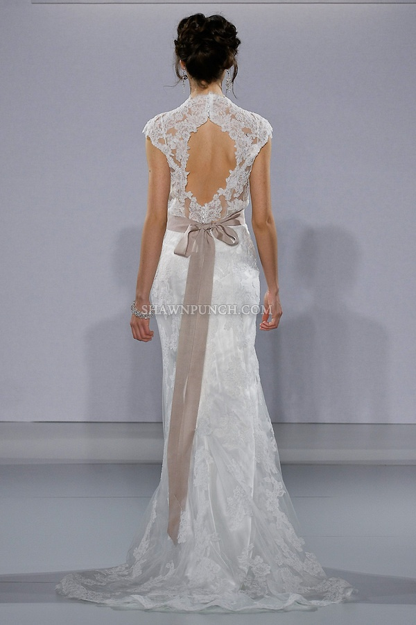Model walks runway in a Lara wedding dress from the Sottero and Midgley Spring 2013 collection, at The Couture Show, during New York Bridal Fashion Week, on October 14, 2012.