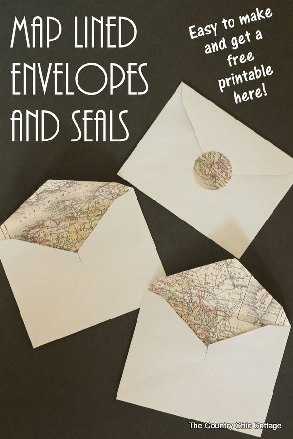 Making Map Lined Envelopes the EASY way