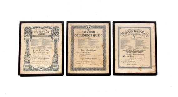 Antique 1920s 1930s framed piano examination by evaelena on Etsy