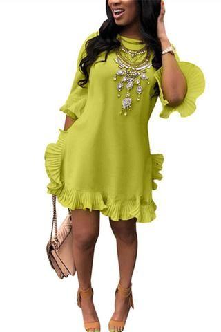 3e824fa6ae High Split Solid Color Dress