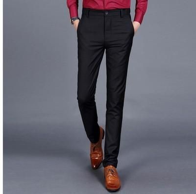 136016d85e9 2018 Fashion New Mens Business Formal Suit Pants Slim Fit Design Pants Men  Party Dresses Office