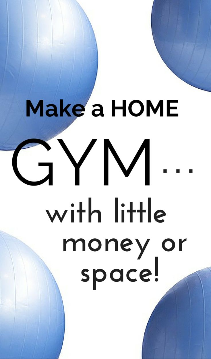 No gym membership? No big deal! Make your own home gym that is just as effective with very little space and money and be on your way to getting fit. Tap here for ideas just how to get it done!