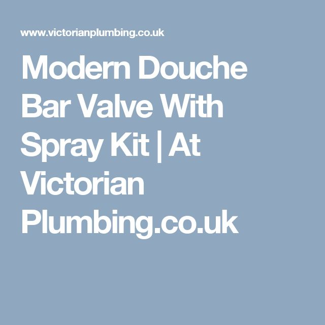 Modern Douche Bar Valve With Spray Kit   At Victorian Plumbing.co.uk