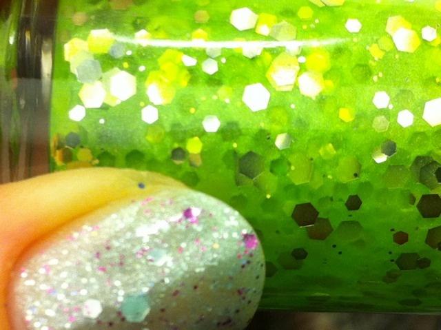 Neon sparkles ahoy.: Nail Polish, Sparkles Ahoy, Neon Sparkles