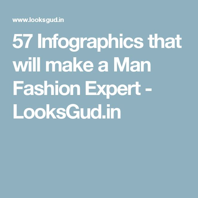 57 Infographics that will make a Man Fashion Expert - LooksGud.in
