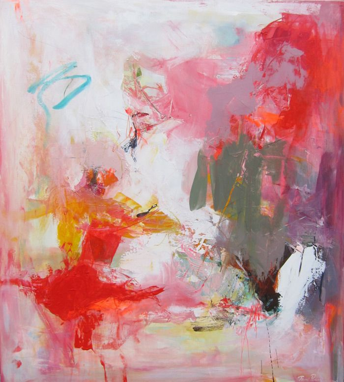 Trine Panum creates some beautifulmodern abstract art. I was cruisingPinterest and came across one of her paintings and was instantly intrigued.