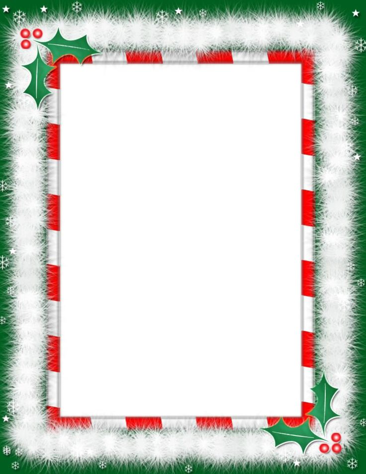 Free Christmas Letter Borders | Christmas Border Template