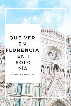Excelente itinerario. Florencia en 1 día.