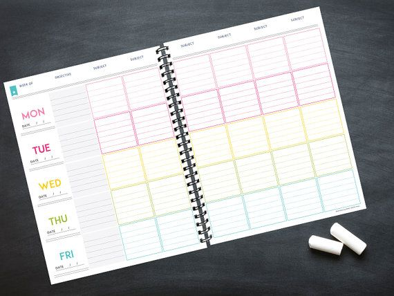 Deluxe Teacher Planner INSTANT DOWNLOAD 20 by SweetPaperTrail