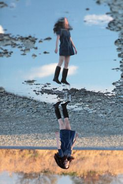 Self-portrait by Natsumi Hayashi aka  Yowayowa Camera Woman, the queen of levitation photography
