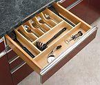 "RAS-4WCT-3 - Rev-A-Shelf Wood 20-5/8"" Wide Trimmable Cutlery Tray Insert - (Birch/Maple)"