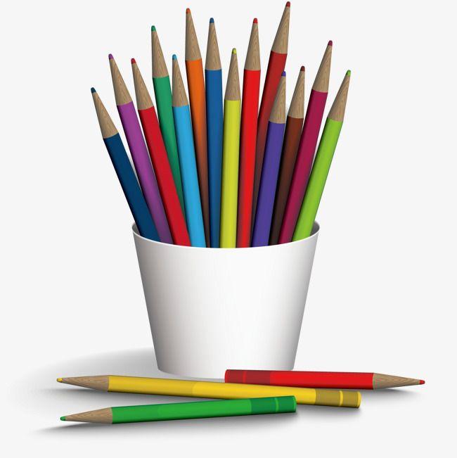 القلم حالة أقلام التلوين صورة القرطاسية أداة تعلم Pencil Png Pencil Colored Pencils