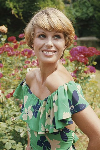 Joanna Lumley as Purdey from The Avengers                                                                                                                                                                                 More