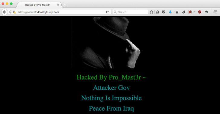 President Donald Trump's Website Hacked; Defaced By Iraqi Hacker #esflabsltd #securityawareness #cybersecurity