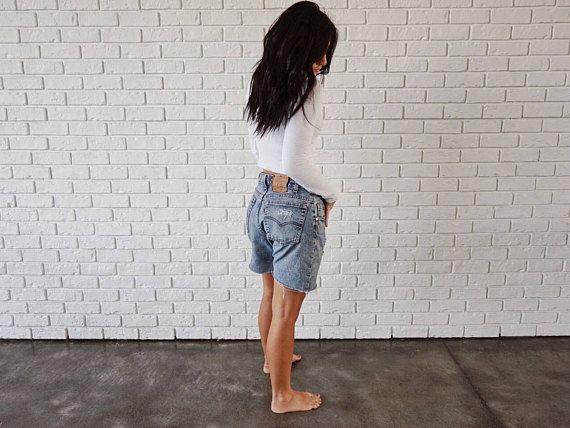 Levis 560 Distressed Vintage Shorts 32