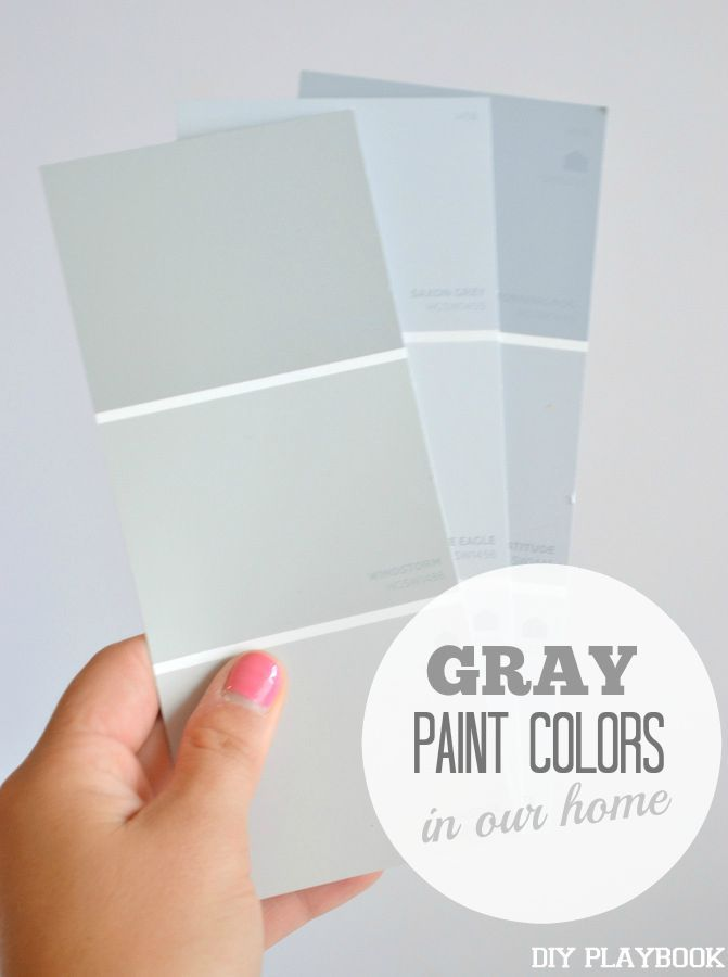 Our favorite gray paint colors and how they look in our home. Come figure out how to find the right paint color for your walls.