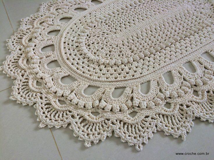 Tapete oval modelo russo passo a passo parte2 for Tapetes de crochet