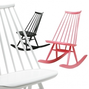 Beautiful rocking chair: Mademoiselle by Ilmari Tapiovaara