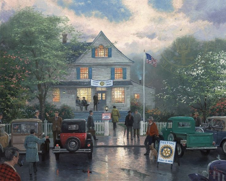The Rotary Club Meeting | The Thomas Kinkade Company