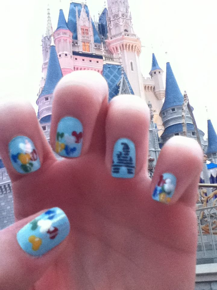 156 best disney nails images on pinterest disney nails art disney world nails prinsesfo Image collections