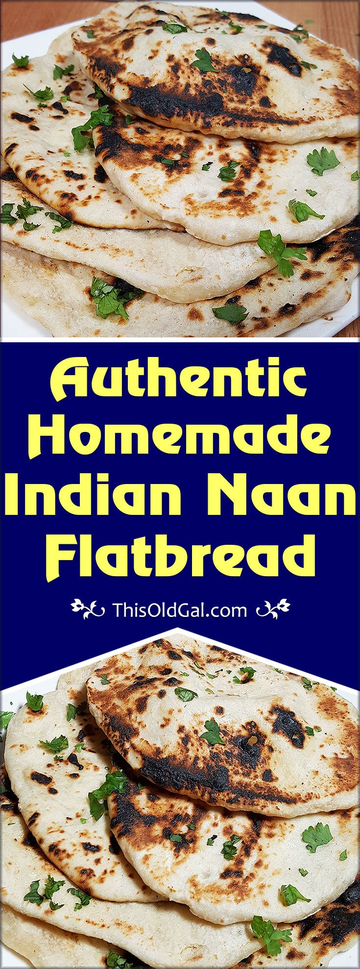 Authentic Homemade Indian Naan Flatbread is soft and delicious, super simple to make and is as good as any Indian restaurant. via @thisoldgalcooks