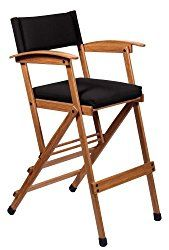 Hollywood Chairs by Totally Bamboo 32″ Elm Director Chair, Black