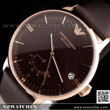 BUY Emporio Armani Automatic Meccanico Black Power Reserve Rose Gold Mens Watch AR4657 - Buy Watches Online | EMPORIO_ARMANI NZ Watches