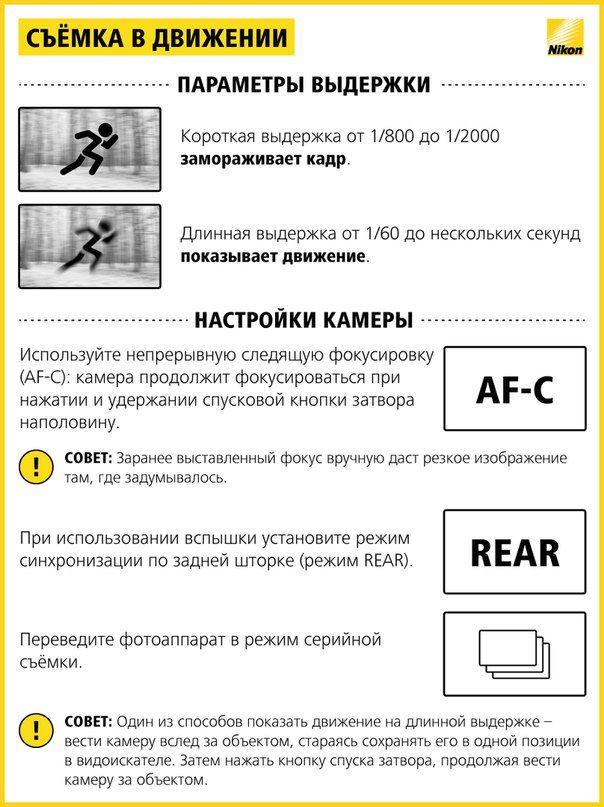 Настройки фотоаппарата для съемки соревнований помощник выборе