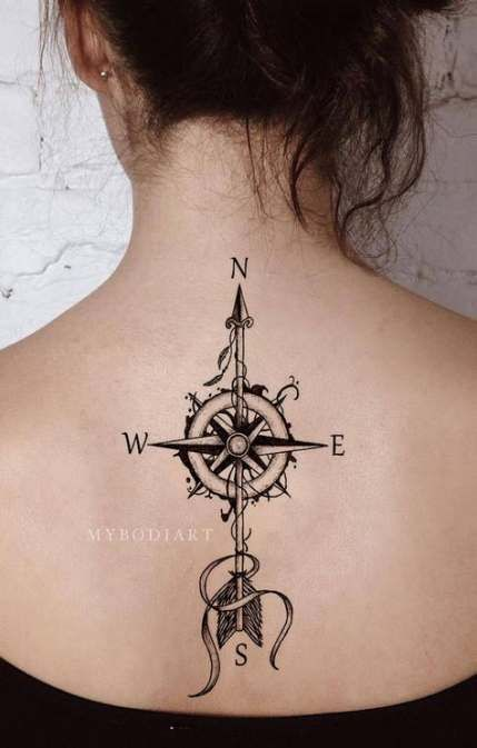 64+ New Ideas For Tattoo Compass Vintage Style