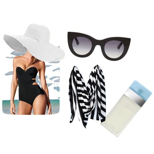 riviera by fely-m on Polyvore featuring moda, Victoria's Secret, Thierry Lasry, Julie Egli and Dolce&Gabbana