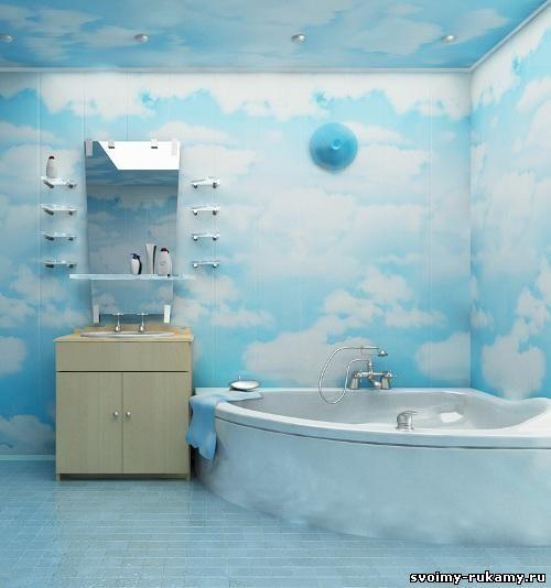Отделка ванной пластиковыми панелями - 9 Июля 2015 - Дом и участок своими руками