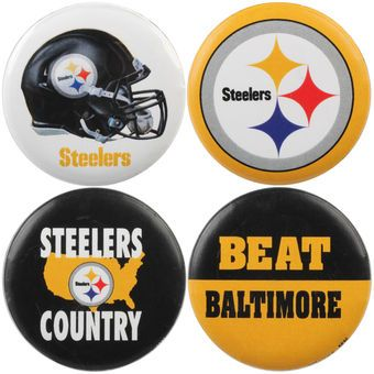 WinCraft Pittsburgh Steelers Team Logos & Beat Opponent 4-Pack Pin Set