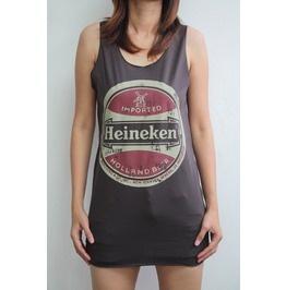 Heineken Beer Women Vest Rock Tour Tank Tops T-shirt