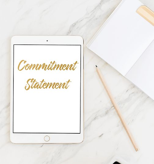 Commitment Statement – product page
