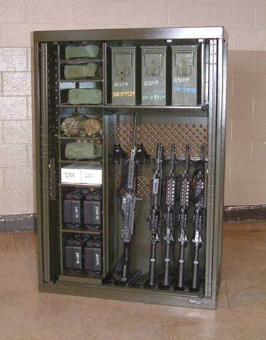 "GSA Military Weapons ""space saver"" Racks."