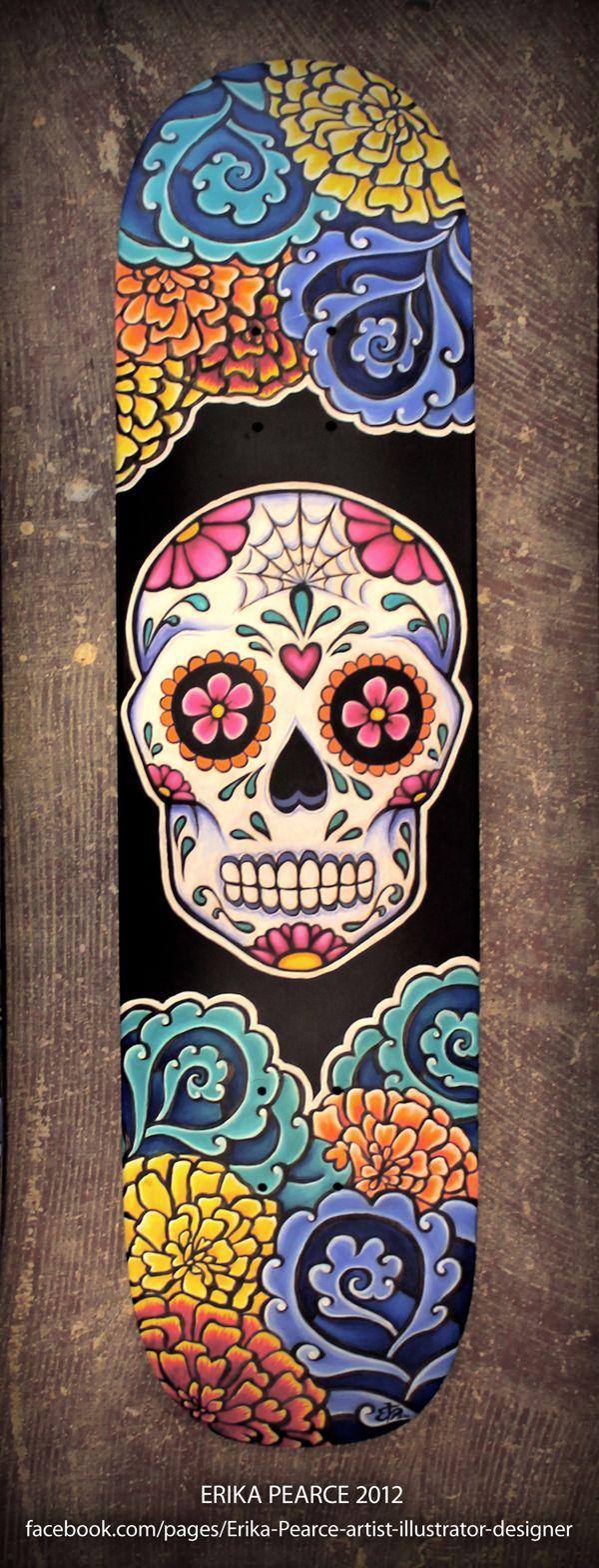 Día de los Muertos - Skate Decks by Erika Pearce, via Behance