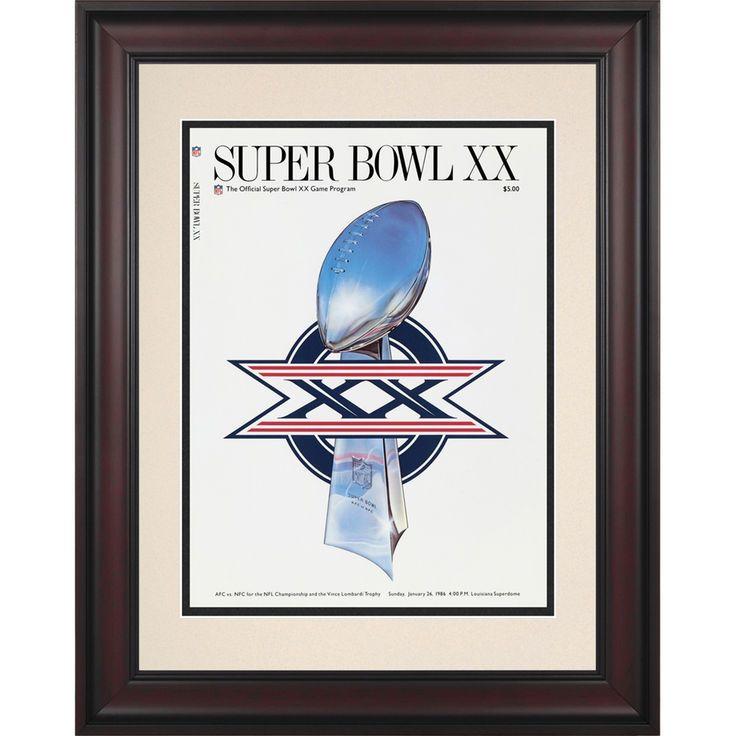 "Fanatics Authentic 1986 Bears vs. Patriots Framed 10.5"" x 14"" Super Bowl XX Program - $89.99"