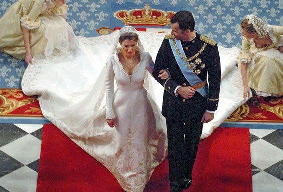 Prinz Felipe und Prinzessin Letizia in der Basilika von Atocha ; PHOENIX/ZDF/sipa press