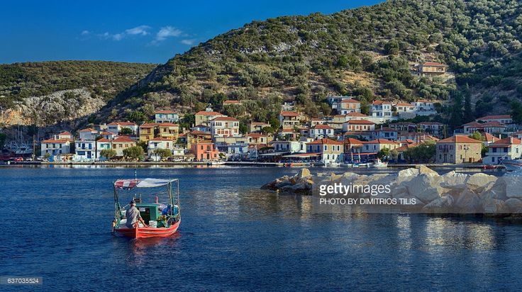 Early in the morning at the traditional settlement Agia Kyriaki,a small fisherman's village at the coast of Pelion Mountain.
