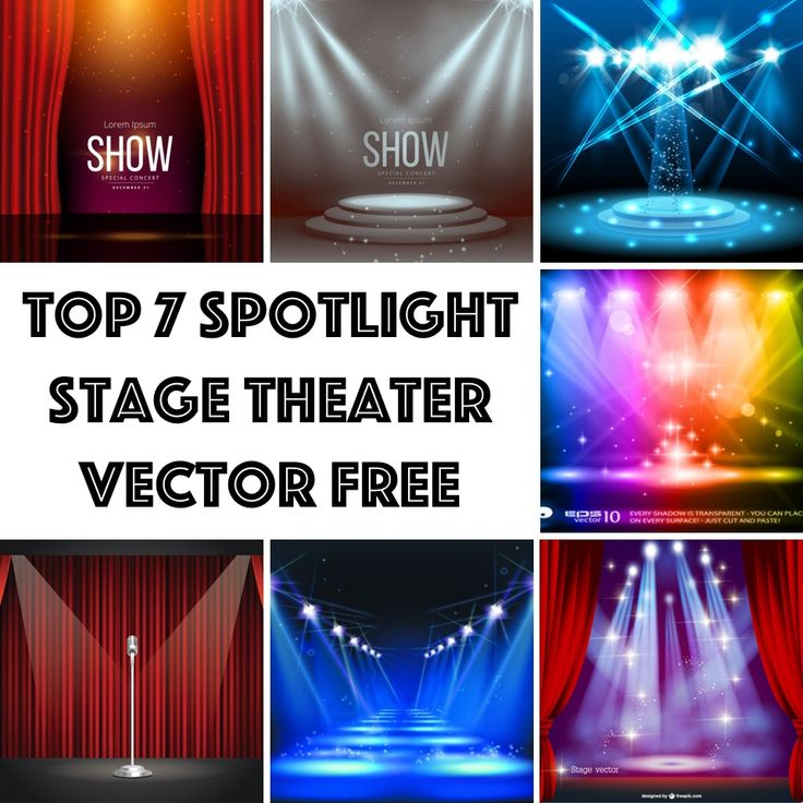 Below is the my of Top 7 Spotlight Stage Theater Vector Free Download. Feel free to download them. Make sure you read each file's term of use before using them for any project.