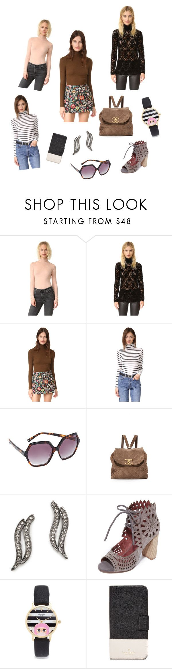 """""""Turtle Neck..**"""" by yagna ❤ liked on Polyvore featuring T By Alexander Wang, DKNY, Three Dots, Club Monaco, Kendall + Kylie, Rebecca Minkoff, Jeffrey Campbell, Kate Spade and vintage"""