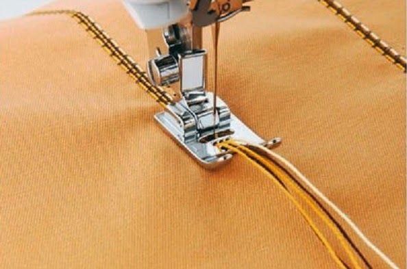 Videotutorial: los prensatelas para añadir hilos o cordones decorativos - yo elijo Coser