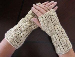 Unos mitones o guantes sin dedos que puedes hacerte junto conel gorro con visera haciendo juego. Vídeo tutorial con el paso a paso    ...